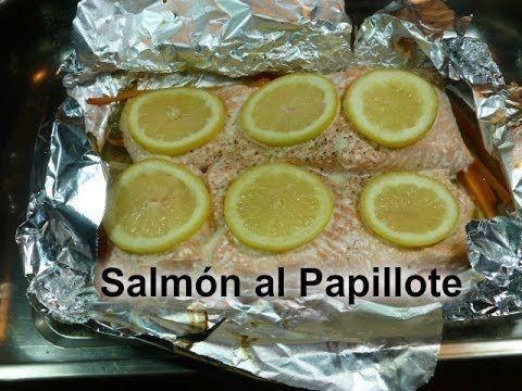 Salmón al Papillote. Receta deliciosa y muy fácil.