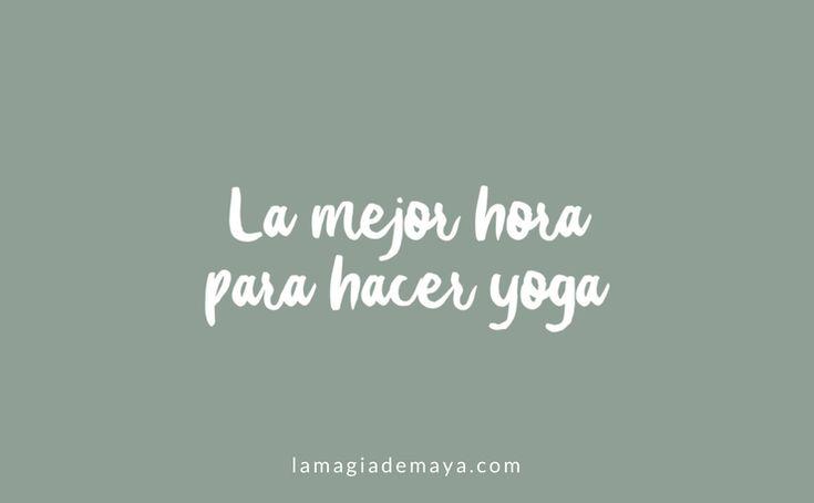 La visión tradicional sugiere que el yoga debe practicarse a primera hora de la mañana, idealmente antes de que sale el sol y hayas desayunado. En un tiempo que se le conoce como #Brahmamuhurtha.   Una hora y 36 minutos antes del amanecer.