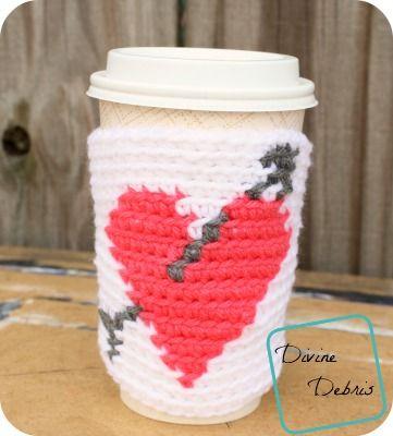 Free Heart Mug Cozy crochet pattern by DivineDebris.com
