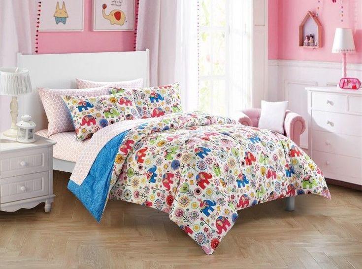 Girls Comforter Set Bed In A Bag Kids Bedding Sets Shams Sheets Full New #MainstaysKids