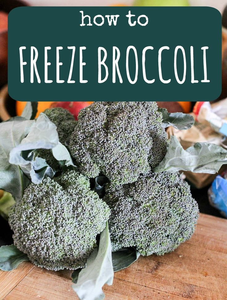 HOW TO FREEZE BROCCOLI and preserve your harvest. Step by step instruction on how to freeze broccoli. Visit Strayed from the Table for more inspiration recipes. #preserve #broccoli #freeze