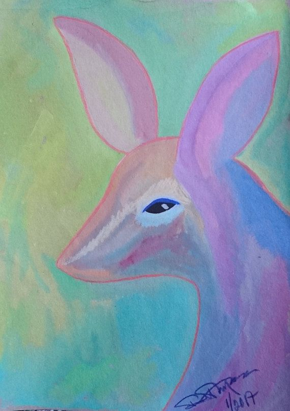 fantasy animal, watercolour on cardboard, w23 x h31 cm,