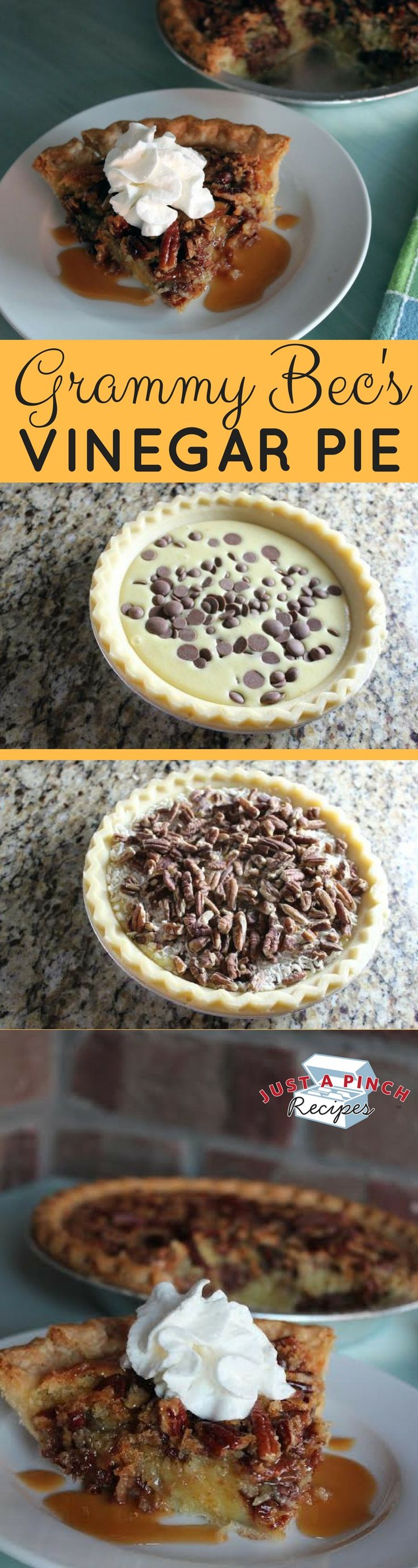 We tested the German Chocolate Vinegar Pie and, oh my, it was good. The base pie is rich and creamy. It only gets better when you add the chocolate, coconut, and pecans. They sent this pie over the top!