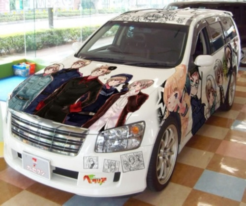 A Car Covered In Pictures From An Anime? YES PLEASE