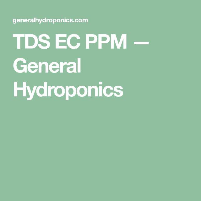 TDS EC PPM — General Hydroponics