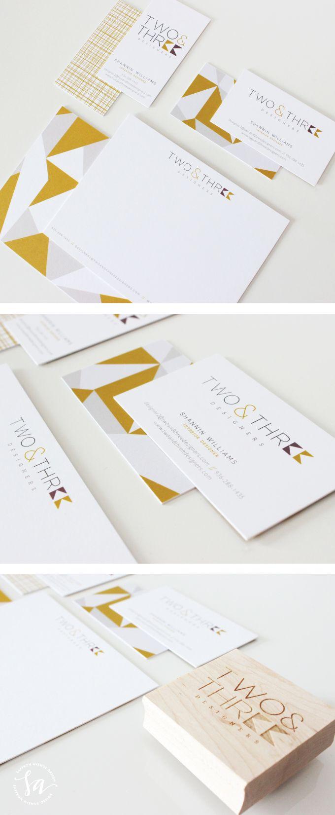 Logo and Brand Design :: Two  Three Designers :: Saffron Avenue
