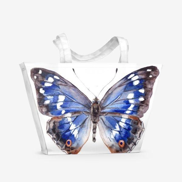 Пляжная сумка Голубая бабочка, Автор: Лена Мороз, Цена: 1500 р.