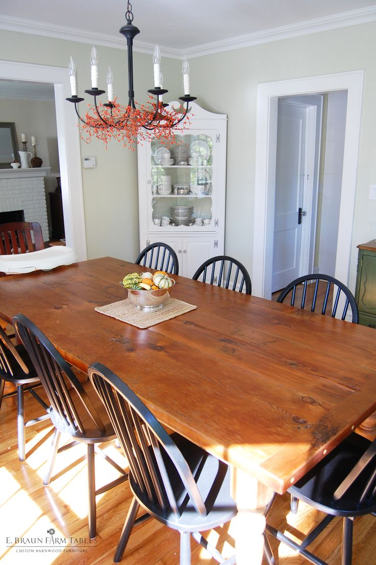 Large Farm Table Harvest Featuring A 2 Thick Top And 5 Turned Legs Handcrafted Using Reclaimed Barn Boards Beams Rafters In Lancaster County