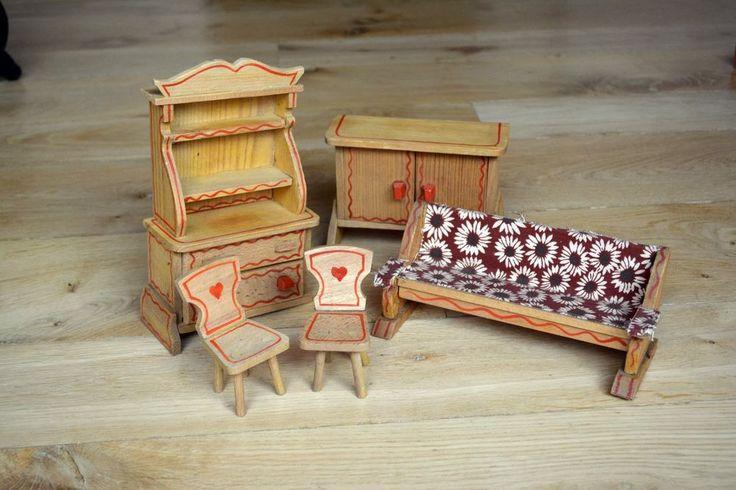 alte m bel aus holz f r die puppenstube ebay folk bauernm bel for the dollhouse pinterest. Black Bedroom Furniture Sets. Home Design Ideas