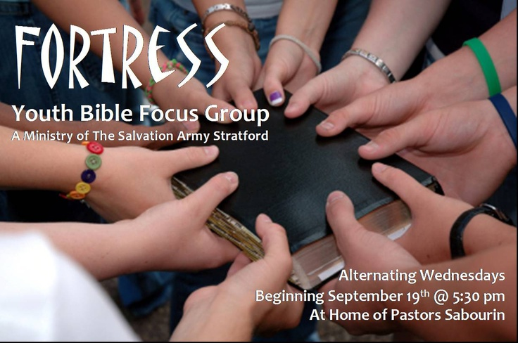 FORTRESS Youth Bible Study; every 2nd Wednesday