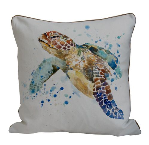 poszewka watercolor żółw marynistyczna