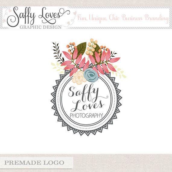Circle Stamp Premade Custom Business Photography Logo Design (198)