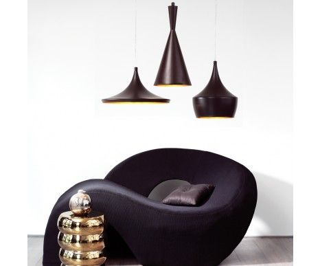 Espresso 1 Light Pendant in Dark Coffee/Gold | Pendant Lights | Lighting