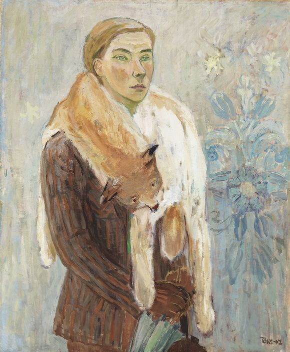 Tove Jansson: Self-portrait with an lynx collar