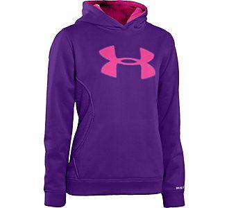 purple under armour hoodie