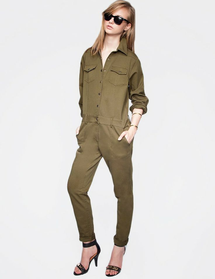 Lastest  Khaki Amy Green Overall Womenin Jumpsuits Amp Rompers From Women39s