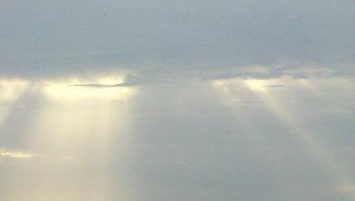 sky, winter, clouds, sun, sun rays, landscape, romantic