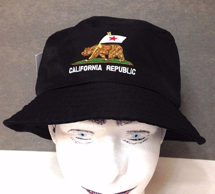 NEW Men/Women/Teen CALIFORNIA REPUBLIC BUCKET HAT Casual-Fit Fisherman Bear Flag #Carbon #Bucket