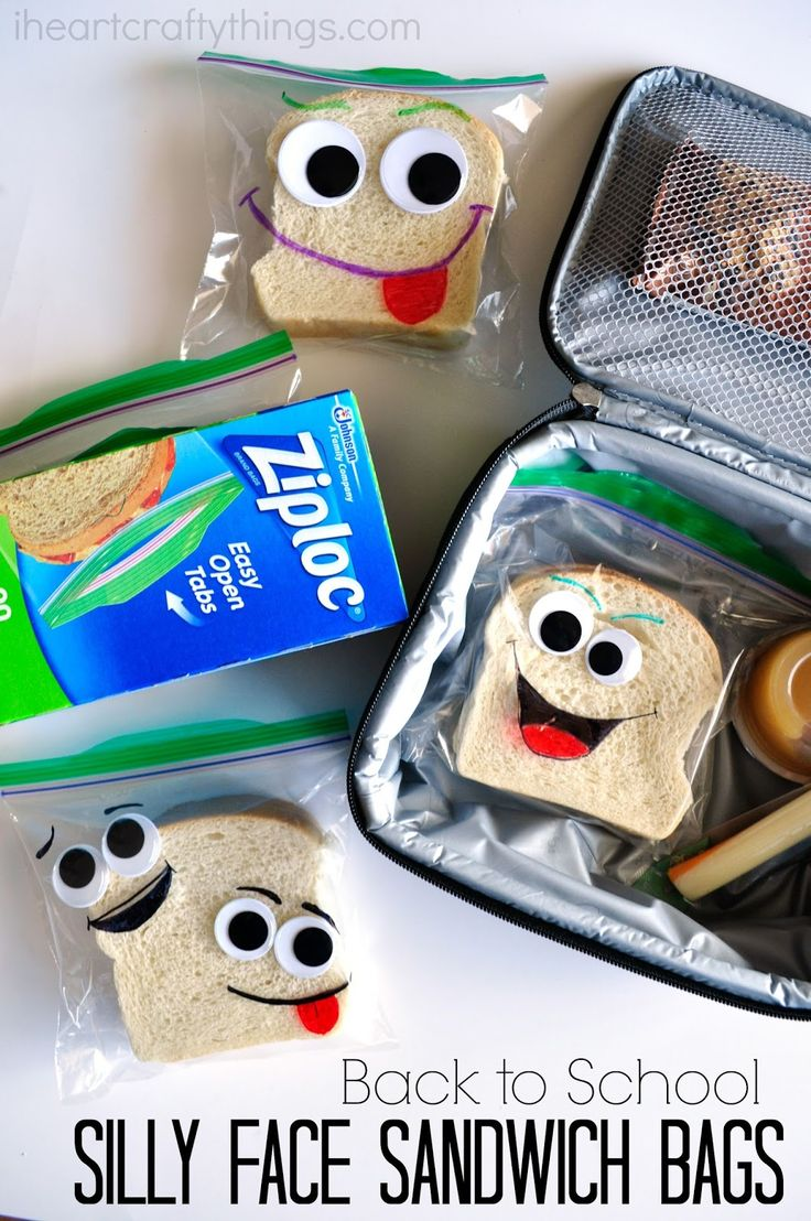 Be the cool Mom at school with these DIY Back-to-School Silly Face Sandwich Bags. #ZiplocBackToSchool #ad