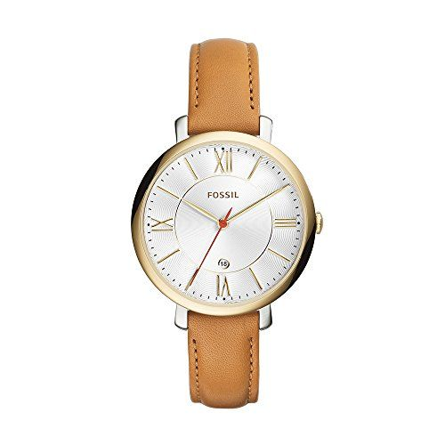 Fossil Women's ES3737 Jacqueline Gold-Tone Stainless Steel Watch with Leather Band - http://www.darrenblogs.com/2017/04/fossil-womens-es3737-jacqueline-gold-tone-stainless-steel-watch-with-leather-band/