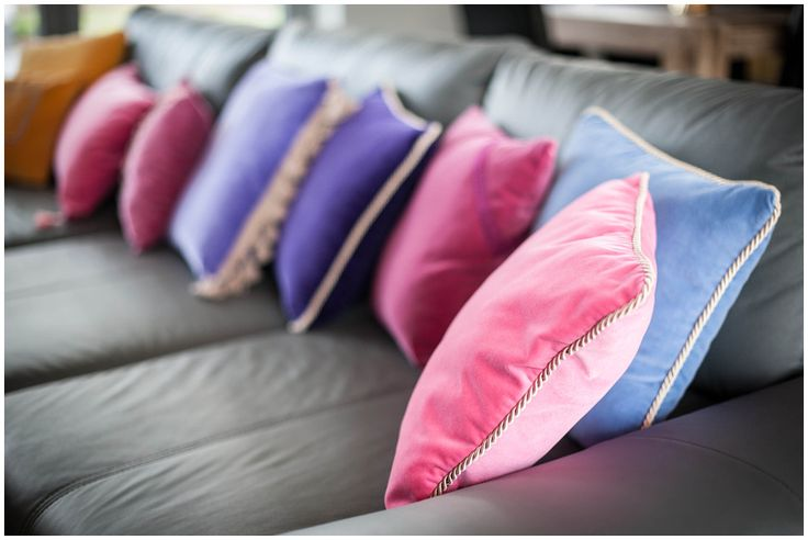 Mix of our pretty, pastel pillows. In the foreground  Pretty Pink and Nice Blue. Intresting please let as know at team@colorforhome.pl