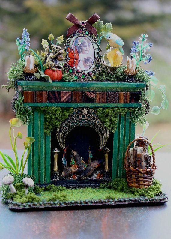 OOAK Dollhouse Miniature Woodland Fairy by 19thDayMiniatures