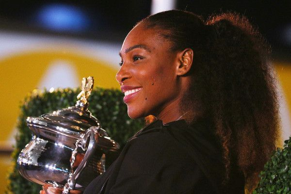 Serena Williams Photos - Serena Williams of the United States poses with the Daphne Akhurst Memorial Cup after winning the 2017 Women's Singles Australian Open Championship at Melbourne Park on January 28, 2017 in Melbourne, Australia. - Australian Open 2017 - Women's Champion Photocall