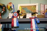 Prize winners of children's craft competitions at the LA County Fair