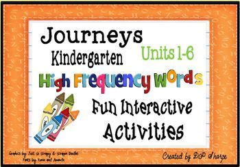 HM Journeys Kindergarten High Frequency Words Fun Interact