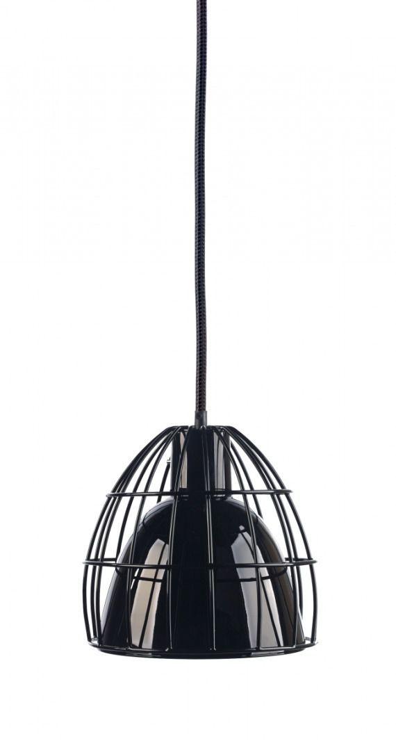 FRAME M lampa wisząca M 1 x 60W E27 (czarna, przewód czarny)