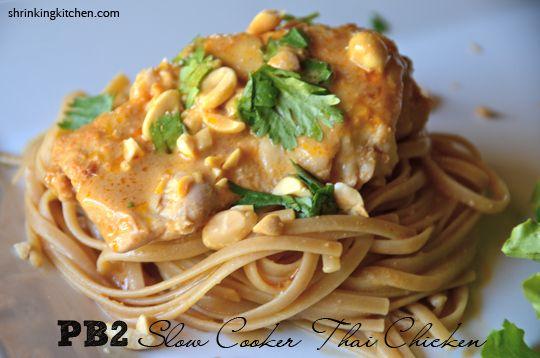 PB2 Slow Cooker Thai Chicken