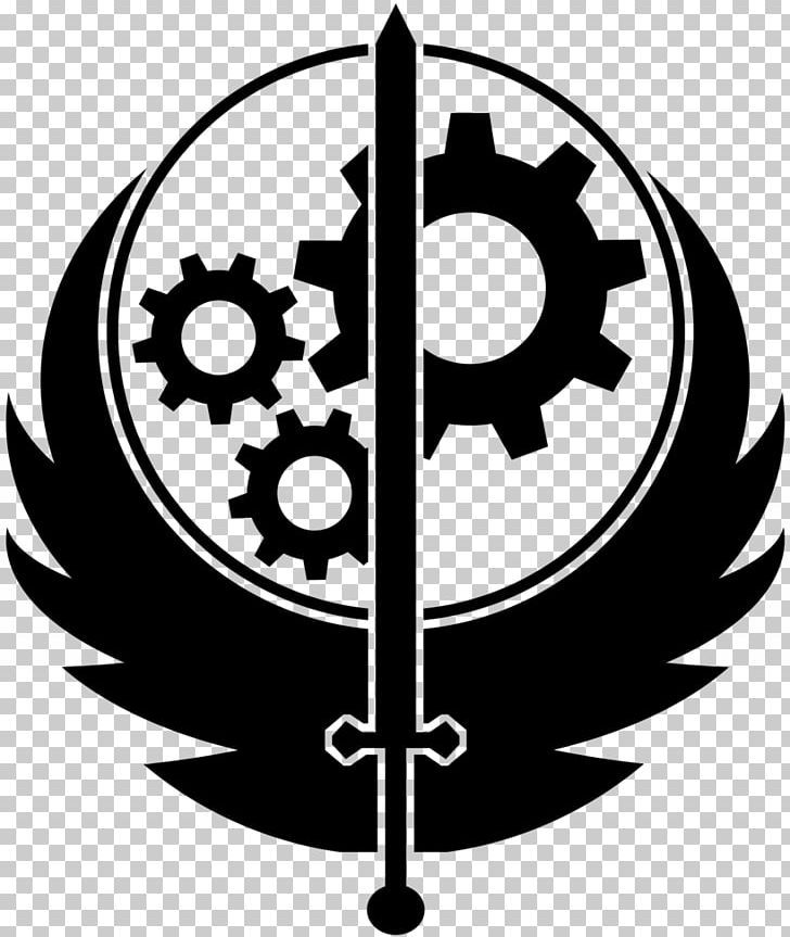 Fallout Brotherhood Of Steel Fallout 3 Fallout 4 Video Game Png Bethesda Game Studios Black And White Circle Fallout Tattoo Icon Tattoo Fallout 4 Tattoos
