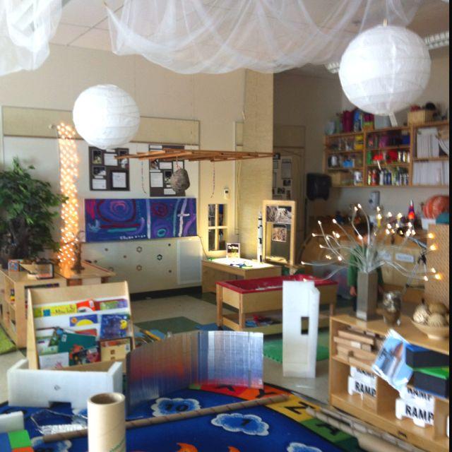 Classroom Ceiling Ideas ~ Preschool classroom like ceiling drapes