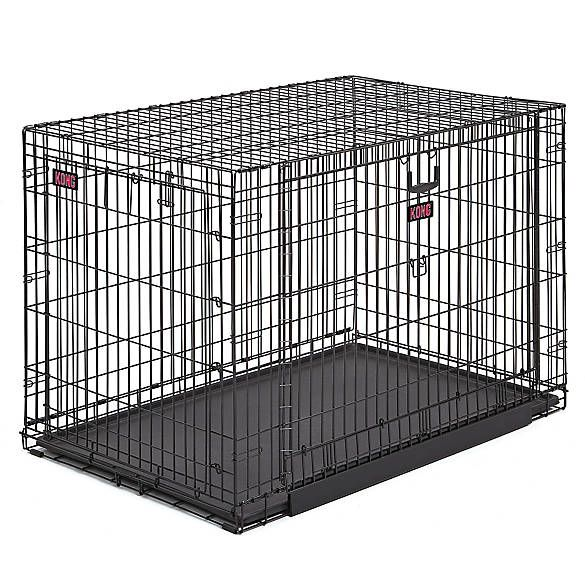 Kong Space Saving Double Door Pet Crate Dog Carriers Crates Petsmart Folding Dog Crate Wire Dog Crates Dog Crate