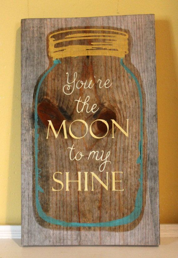 cool You're The Moon To My Shine - Moonshine Sign -Wooden Sign - Wall Decor - Kitchen Decor - Rustic Home Decor - Moonshine Home Decor by http://www.top99-homedecor.xyz/kitchen-decor-designs/youre-the-moon-to-my-shine-moonshine-sign-wooden-sign-wall-decor-kitchen-decor-rustic-home-decor-moonshine-home-decor/