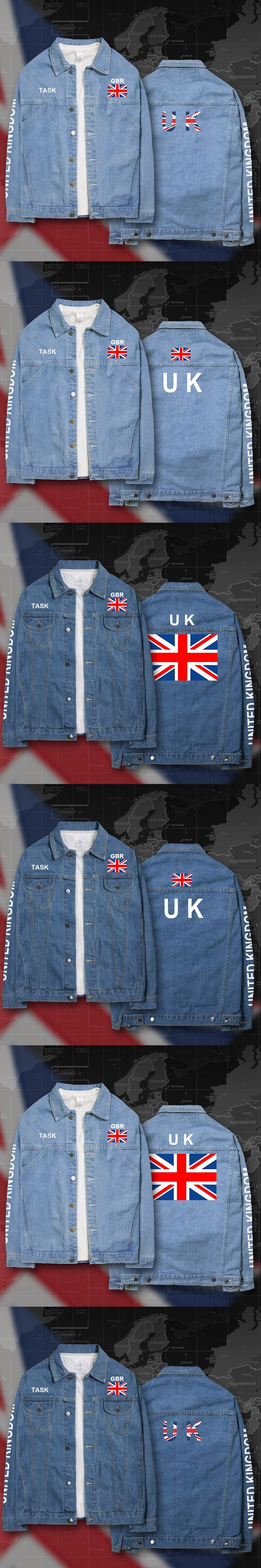 UK United Kingdom of Great Britain GBR denim jackets men coat men's suits jeans jacket thin jaquetas 2017 sunscreen autumn flag