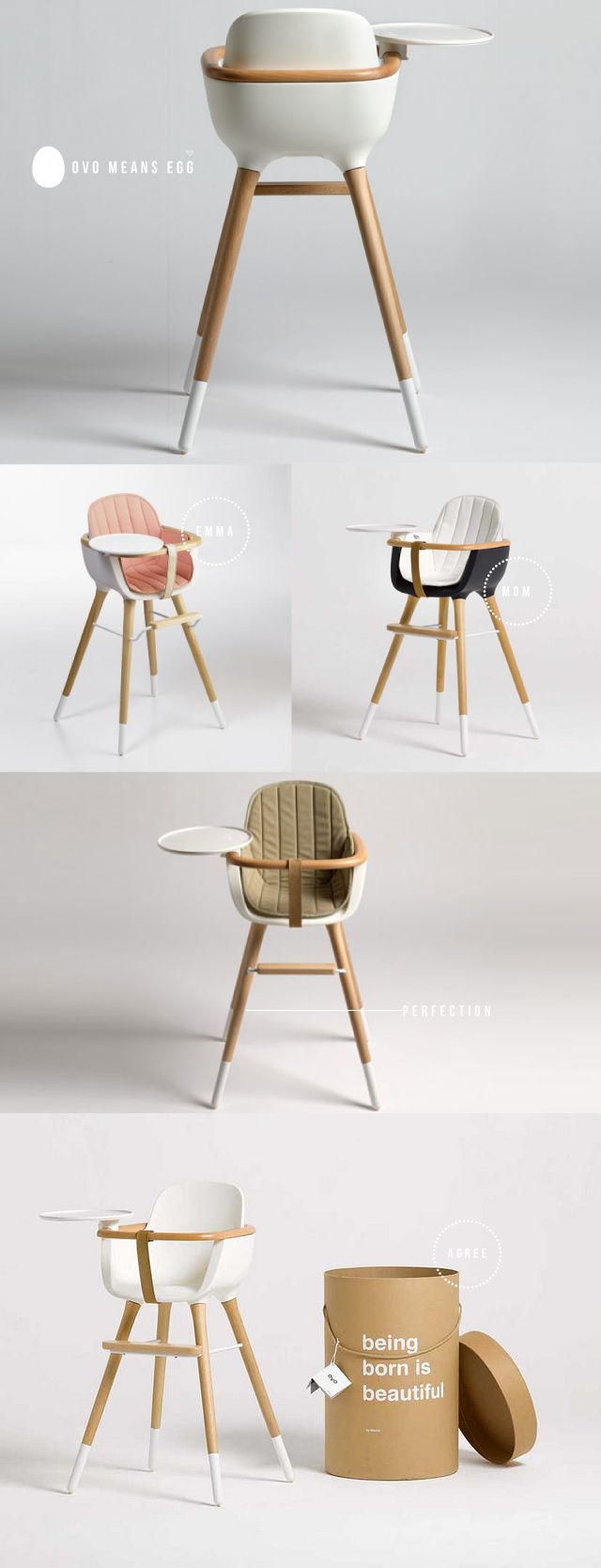 """Ovo"" is a high chair for babys 