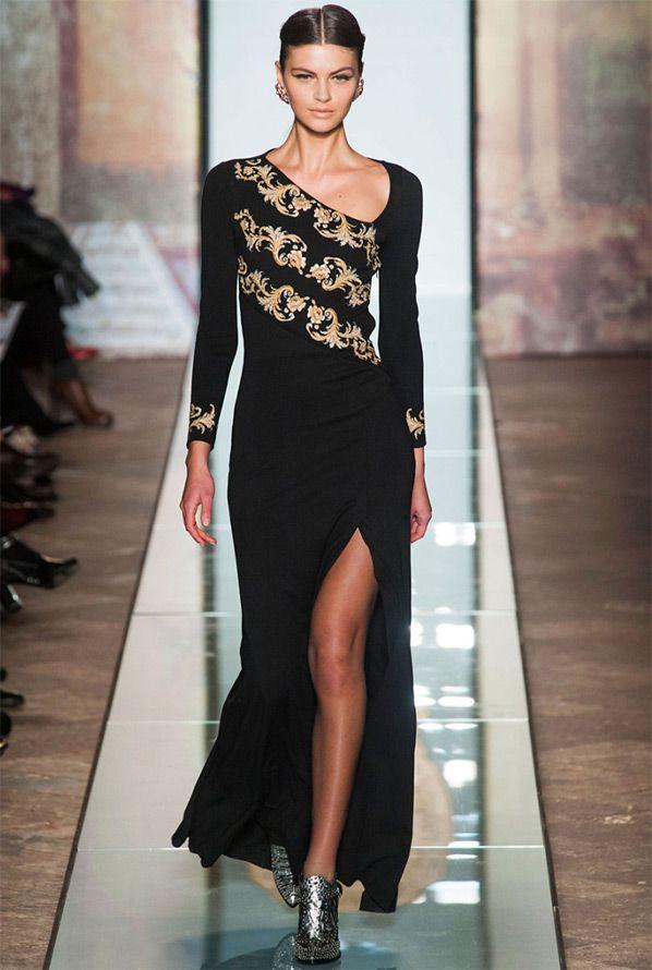 Roccobarocco Черные вечерние платья 2014-2015