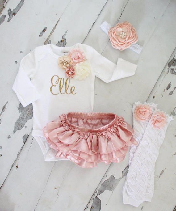 This listing is for any of the following 1 Pair of Ruffle Rose Leg Warmers 1 Lace Ruffle Diaper Cover / Bloomers 1 Personalized Floral Bodysuit** 1 Headband ** PLEASE leave babys name at checkout. :) Accessories ONLY Include: 1 Pair of Ruffle Rose Leg Warmers 1 Lace Ruffle Diaper Cover / Bloomers 1 Headband The Set of 2 Includes: 1 Personalized Floral Bodysuit 1 Pair of Ruffle Rose Leg Warmers OR 1 Lace Ruffle Diaper Cover/Bloomers* * Please type your selection of diaper c...
