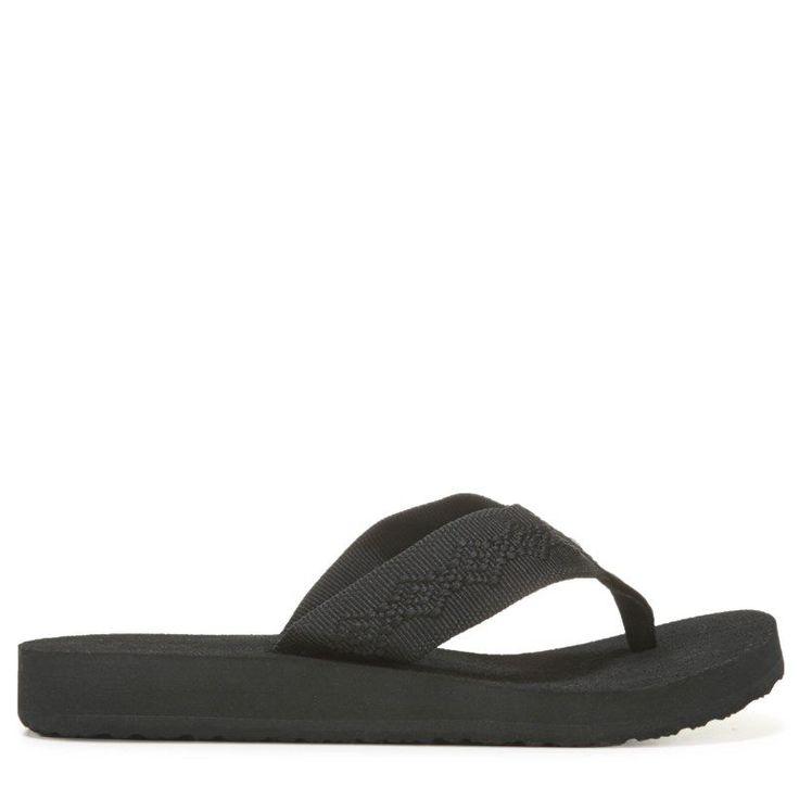 Reef Women's Sandy Flip Flop Shoes (Black/Black) - 10.0 M