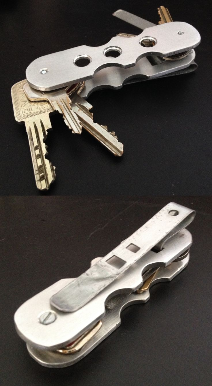 My DIY / EDC key organizer made from aluminum with pocket clip and nail file... material cost < 5 € ; about 6 working hours