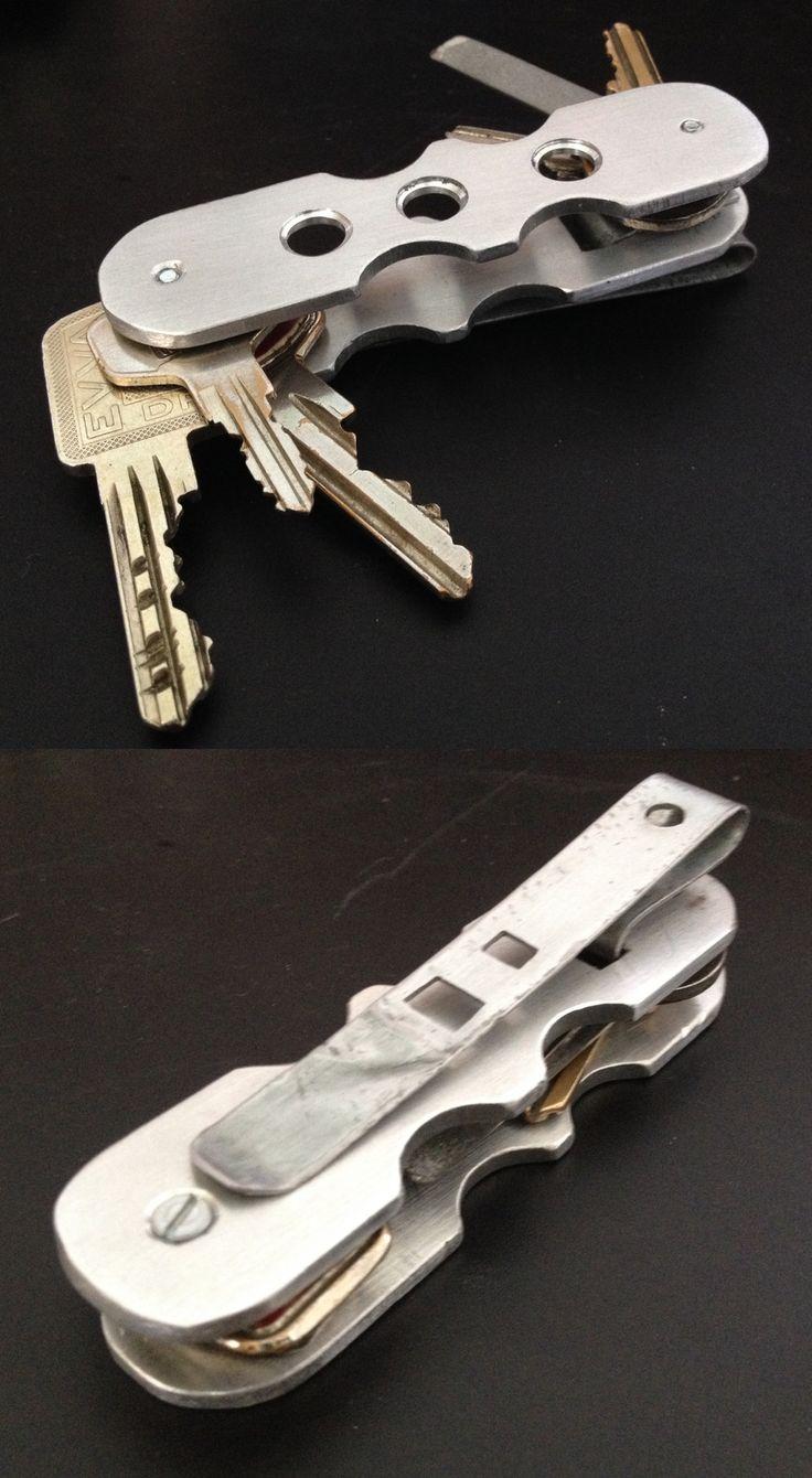 My Diy Edc Key Organizer Made From Aluminum With Pocket