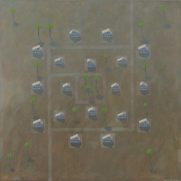 Village Map, 2004. Kristian Krokfors. Oil on... - Kafka's Apartment