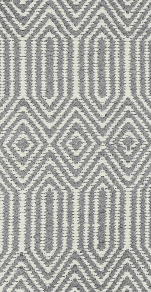 The Ryker Rug in Grey and White. Hand woven and Moroccan inspired using geometric shapes and tribal patterns. £159 | MADE.COM