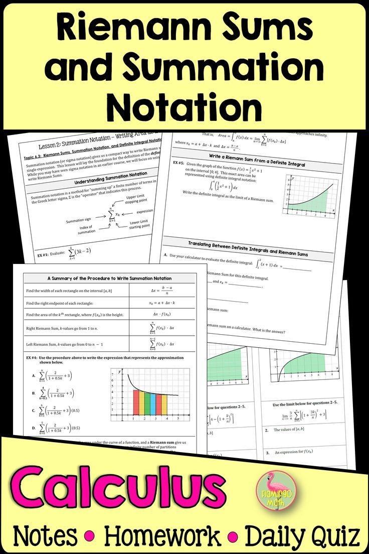 Calculus Riemann Sums And Sigma Notation Unit 6 In 2020 Ap Calculus Calculus Ap Calculus Ab