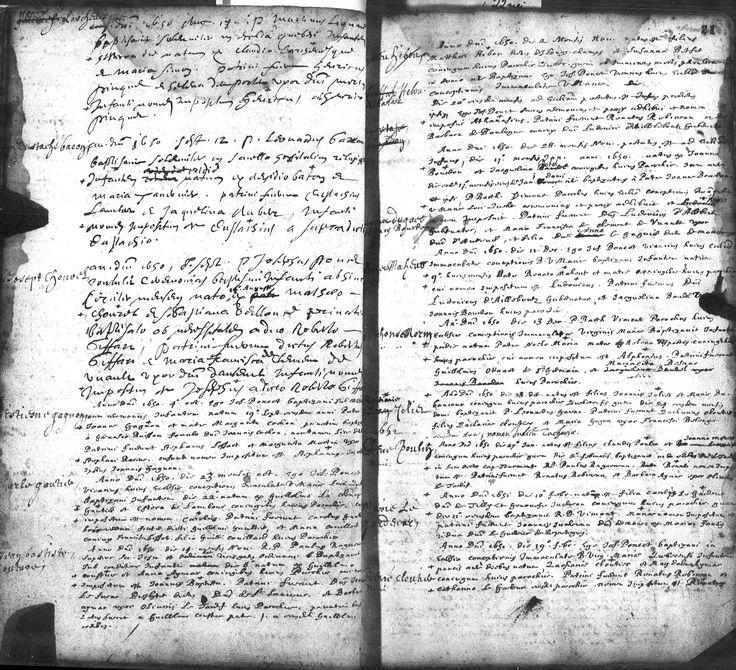 Jean-Baptiste Couture, Registre baptême le 14 novembre 1650.