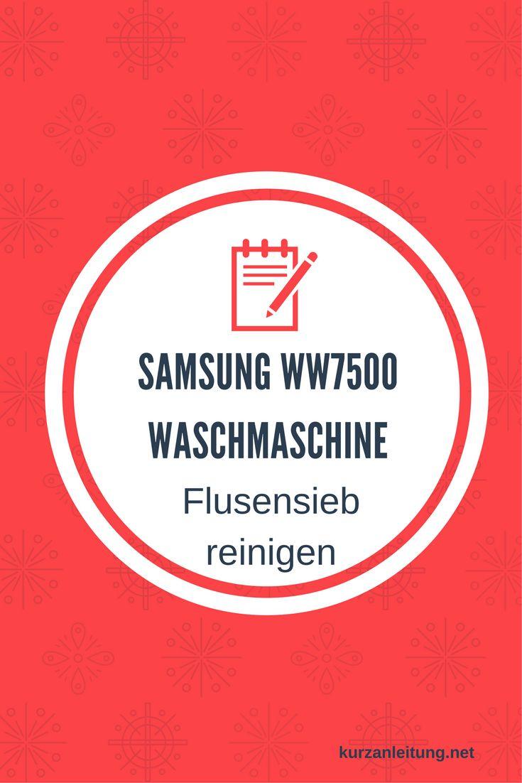 Wie wird das Flusensieb bzw. der Pumpenfilter der Samsung (Add Wash)Waschmaschine ausgebaut und gereinigt?  Marke: Samsung Modell: Add Wash, WW7500, WW90K7405OW/EG Hilfsmittel: Flache Schüssel / Schale, Putzlappen, Schlitzschraubendreher  #Flusensieb #Reinigung #Samsung #Waschmaschine