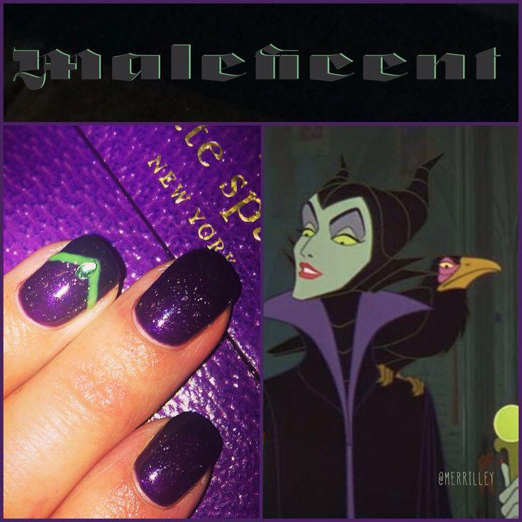 Disney Villian Nails : Maleficent #disney Sleeping Beauty #disneymanicure