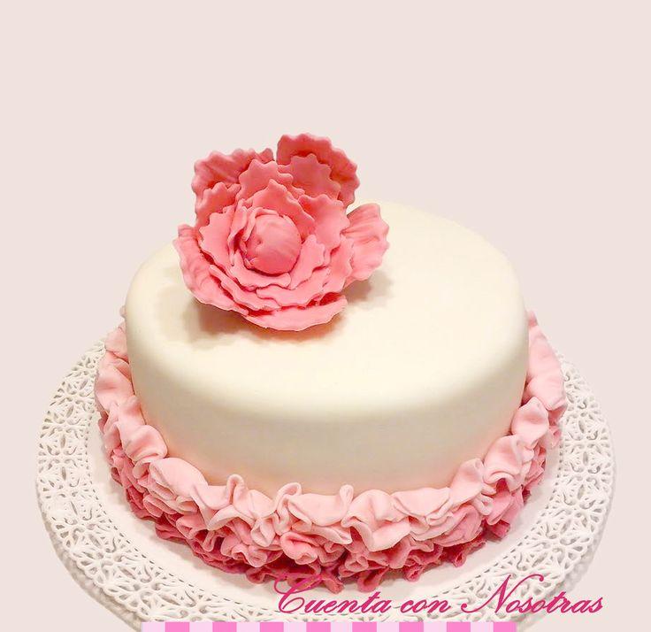 Torta mujeres Torta flor Torta Ruffle Ruffle Cake Flower Cake Woman Cake