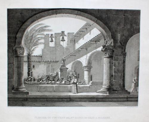 Chiostro del convento di Santa Maria di Gesù a Palermo (1822)